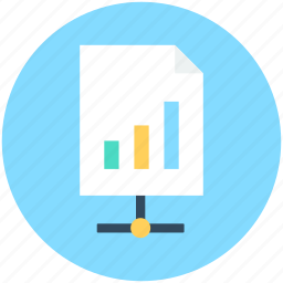 bar chart, graph report, graph share, sales report, share file icon
