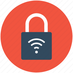 internet security, padlock, wifi password, wireless internet, wireless key icon