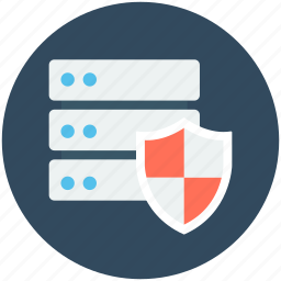 data protection, server, server protection, server safety, shield icon