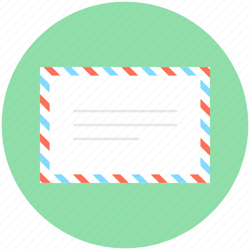 air mail, correspondence, envelope, letter, mail icon