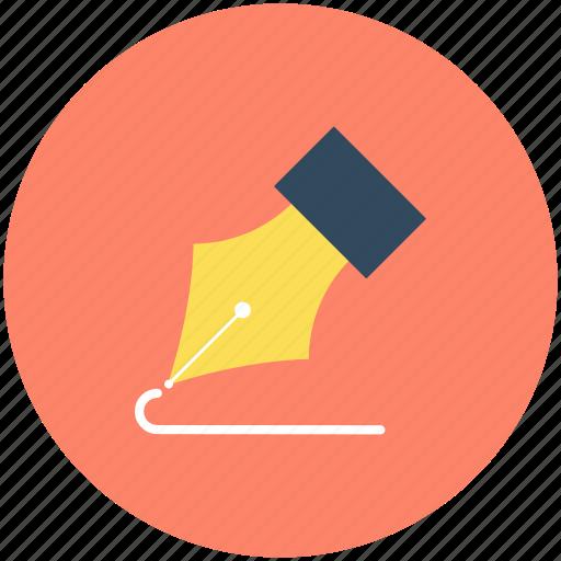 fountain pen, ink pen, pen nib, pen tip, writing icon