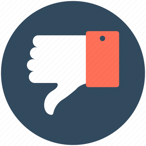 denied, dislike, hand gesture, rejected, thumb down icon