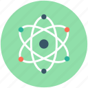 atom, atom bond, atom structure, electron, science icon