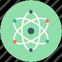 atom, atom bond, atom structure, electron, science icon