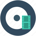 cd, cinema, dvd, film reel, movie reel icon