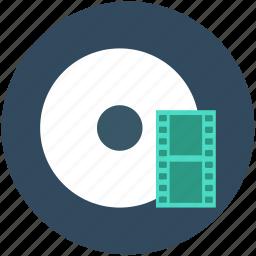 cd, cinema, dvd, film reel, movie reel icon
