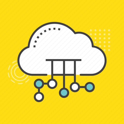 cloud computing, cloud downloading, cloud media, cloud network, cyberspace icon