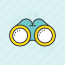 binocular, field glass, search, spyglass, telescope icon