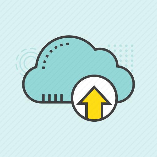 cloud computing, cloud network, cloud sharing, cloud transfer, cloud uploading icon