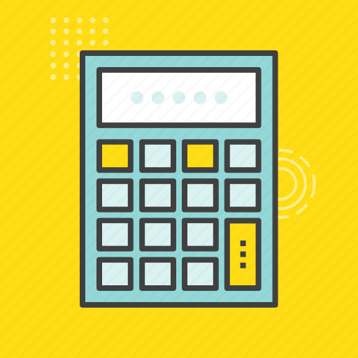 accounting, calculating device, calculator, digital calculator, stationery icon