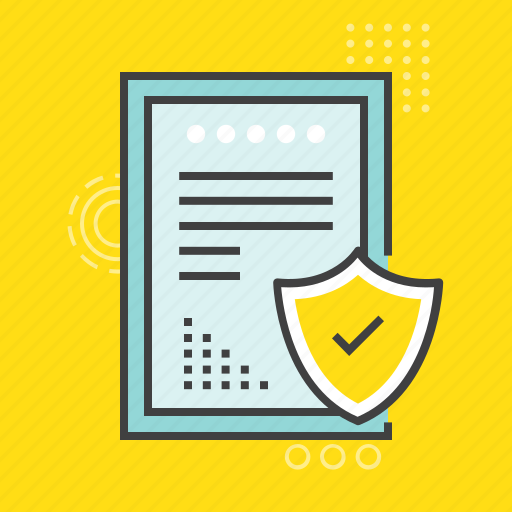 confidential documents, data encryption, data security, important files, informations icon