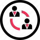 activity, business, connec, data icon