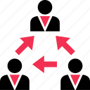 acitivity, arrows, business, friend, internet icon