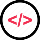 code, online, script, web icon