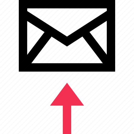 arrow, email, mail, up icon