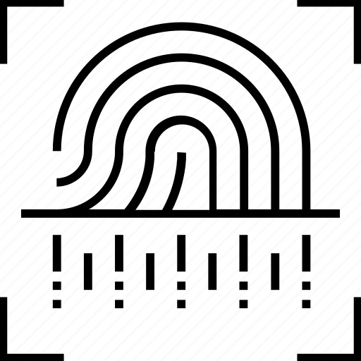 Finger print scanner, print scanner, secure login, security, fingerprint icon - Download