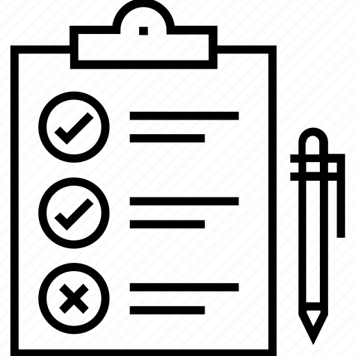 article, checklist, composition, editorial, feature icon