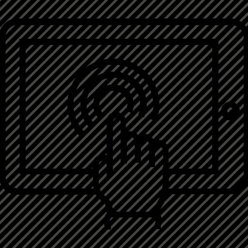 click, cursor, hand gesture, interaction, user interaction icon