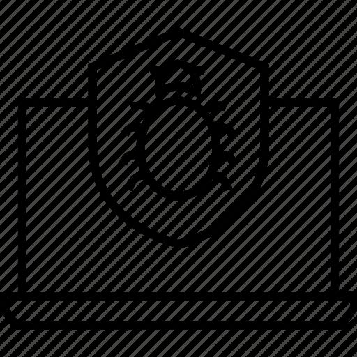 antivirus, antivirus system, bug, bug fixing, insect icon