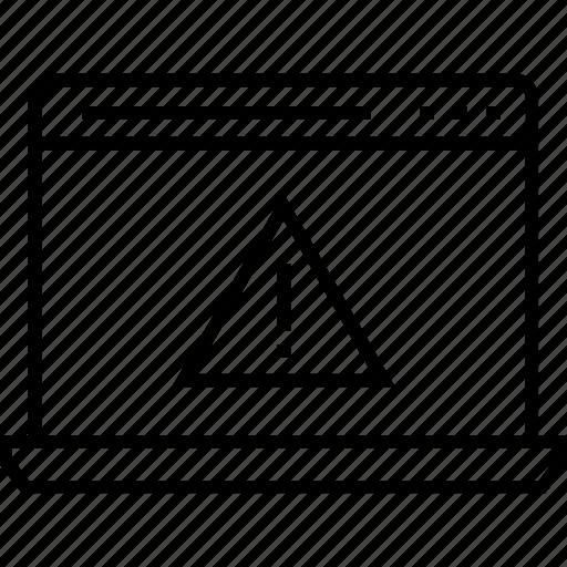 alert message, danger, exclamation, web alert, web error icon