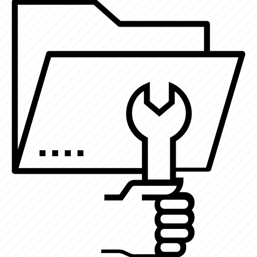configuration, data, folder, management, project management icon