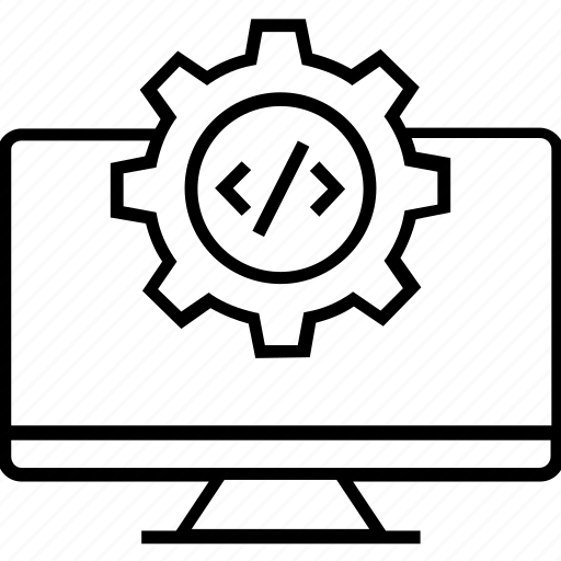 code optimization, coding, cogwheel, preferences, programming icon