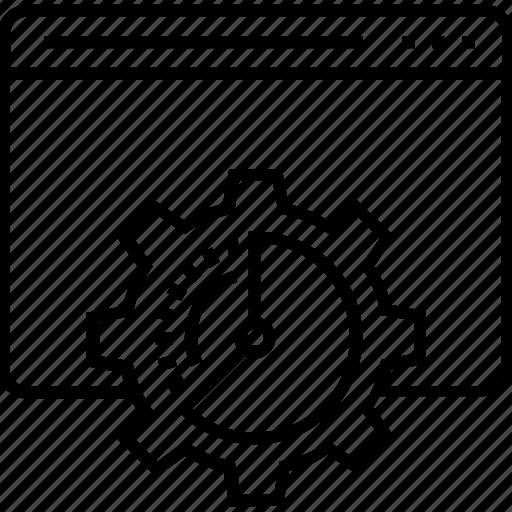countdown, layout, programming, web development, web optimization icon