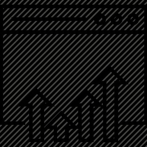 bar graph, web ranking, webpage, website, website ranking icon