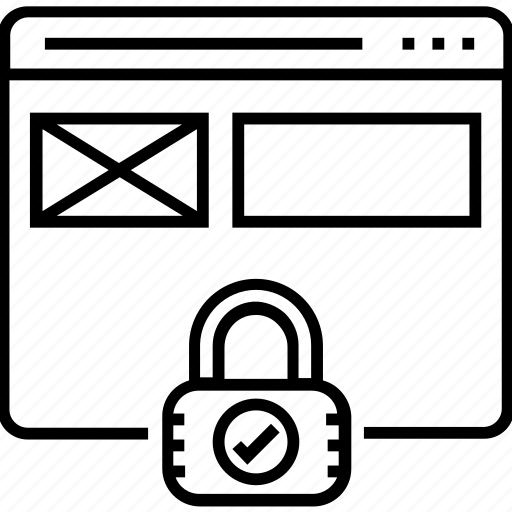 lock, padlock, protection, security, website security icon