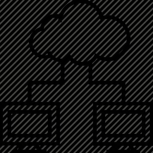 backup, cloud computing, cloud sharing, data, storage icon