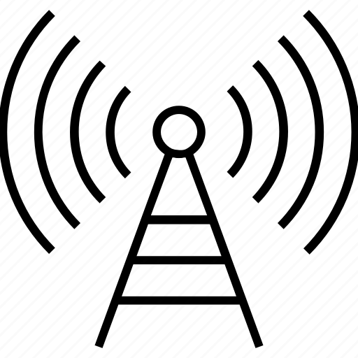 mobile network, radar, signals tower, tower, wireless icon