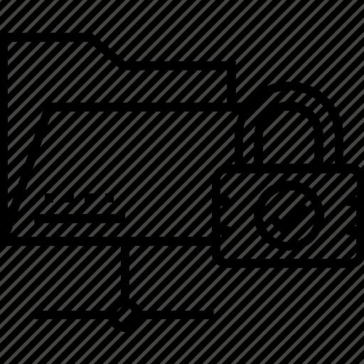 data security, folder lock, folder protection, folder security, lock network icon