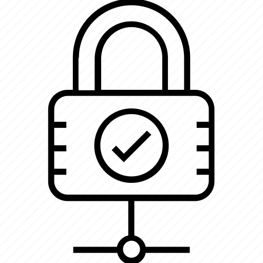 cyber security, lock, network protected, security, share icon