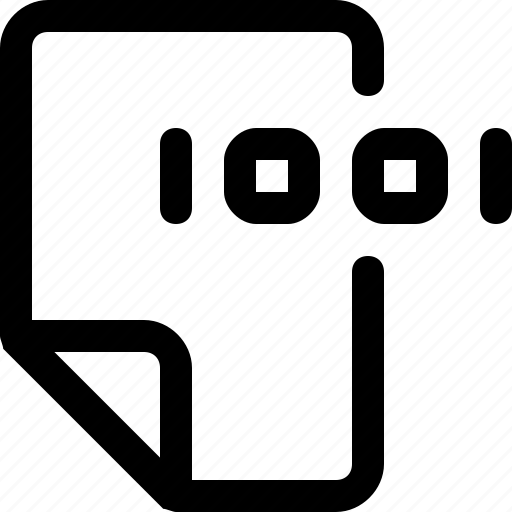 binary, data, document, file icon