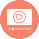 internet video, online video, play video, video streaming icon