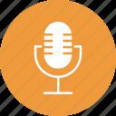 mic, microphone, recording phone, sound recording icon