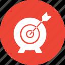company objective board, project target, bullseye, dart board icon