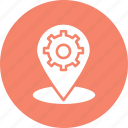 gps management, location management, location marker, location settings icon