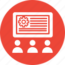 business conference, business meeting, business presentation icon