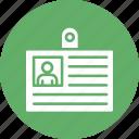 employee card, employee data, employee id card, employee information icon
