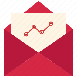 chart, email, mail, online icon