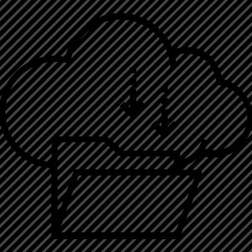 cloud computing, cloud download, data download, folder, icloud icon