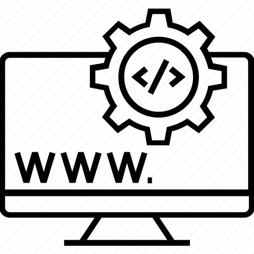 domain, programming, url, web development, www icon