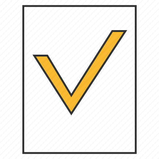 application, check mark, checking, confirmation, statement icon