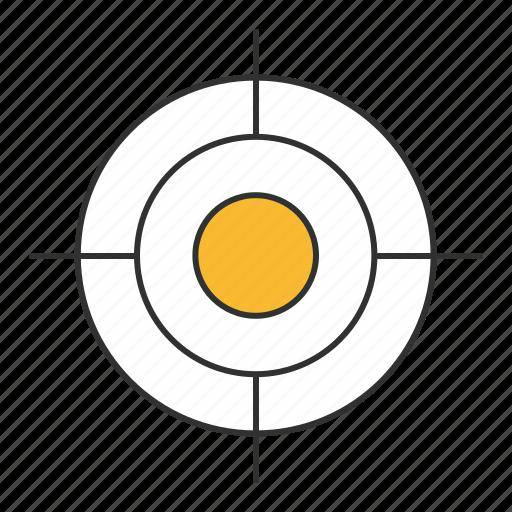 aim, goal, mark, objective, purpose, target, tee icon