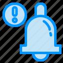 alarm, alert, bell icon