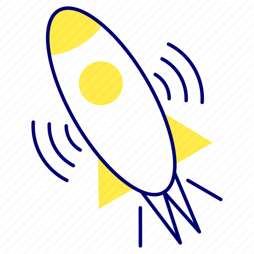 rocket, space, transport, travel icon