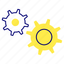 engine, gear, setting icon