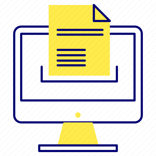 Document, sending, sent, text icon - Download on Iconfinder