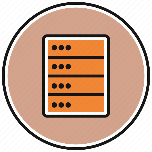data, database, network, storage icon